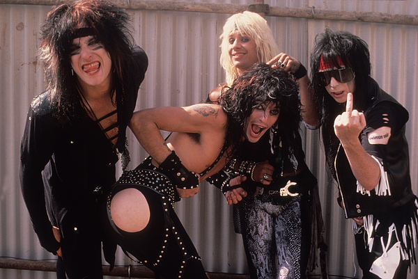 Motley Crue Print by David Plastik