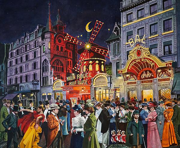 Moulin Rouge Paris 1900 By Jo King