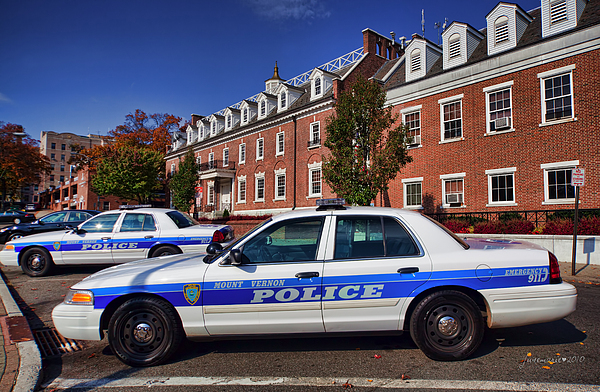 Mount Vernon Police Department Print by June Marie Sobrito