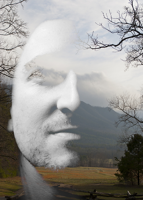 Mountain Man Print by Christopher Gaston