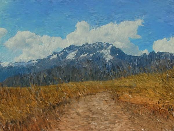 Mountains In Puru Print by David Lane