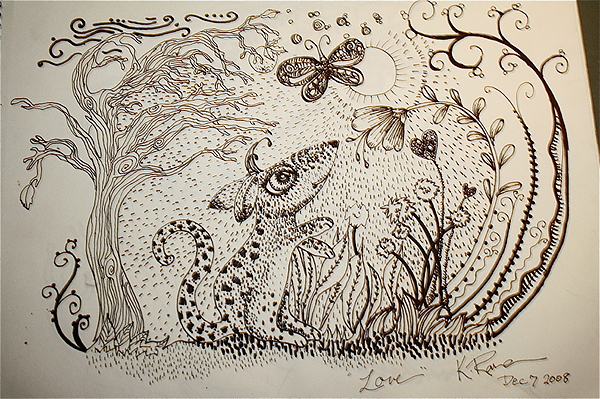 Mouse Print by Kathleen Raven