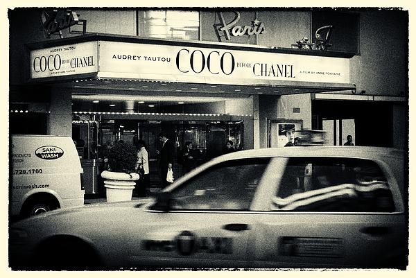 Movie Theatre Paris In New York City Print by Sabine Jacobs