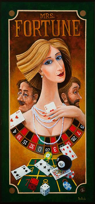 Mrs Fortune Print by Igor Postash