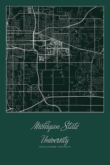 Msu Street Map Michigan State University East Lansing