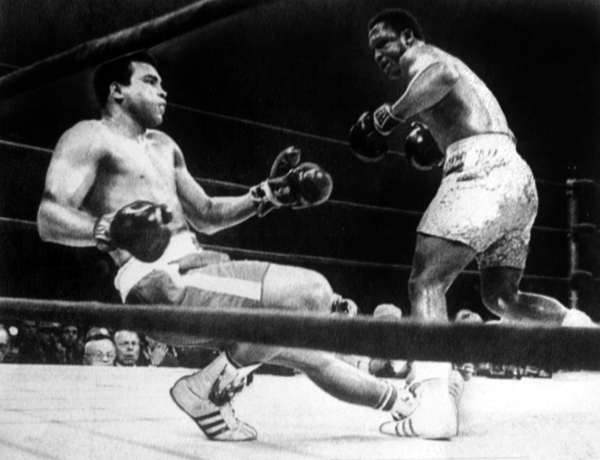 Muhammad Ali Knocked Down By Joe Print by Everett