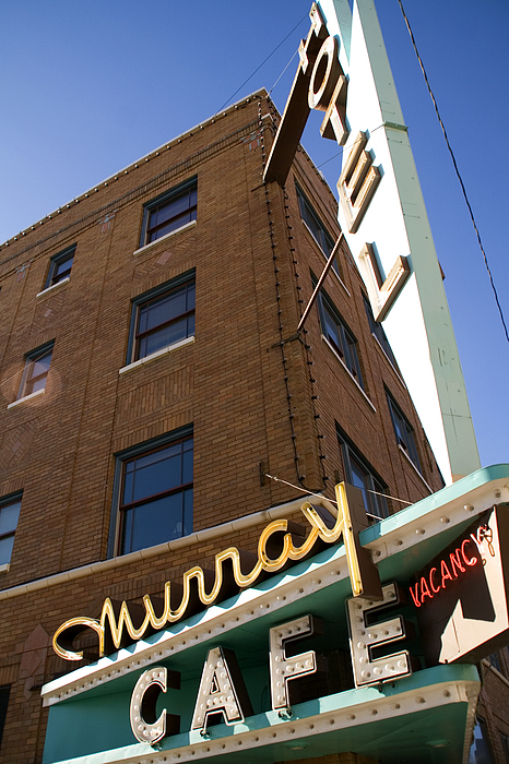 Murray Cafe And Hotel Print by Rachel Barner