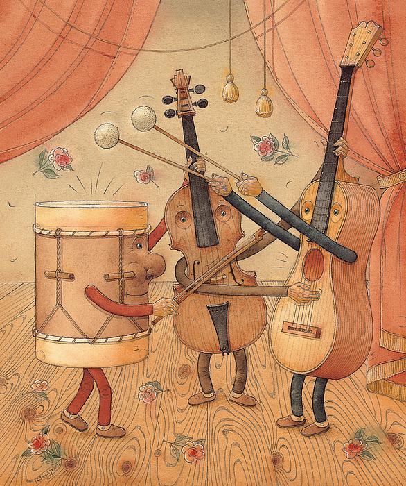 Musicians Print by Kestutis Kasparavicius