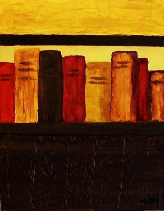 My Library Ll Print by Marsha Heiken