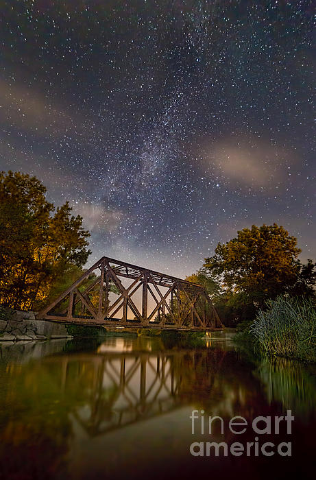 Michele Steffey - Myers Train Trestle By Night
