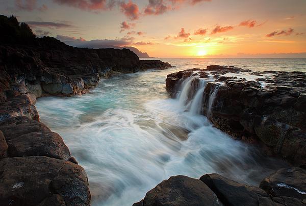 Na Pali Sunset Print by Mike  Dawson