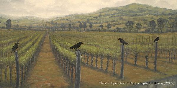 Napa Ravens Print by Marte Thompson