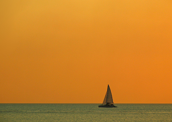 Naples Sunset Print by Juergen Roth