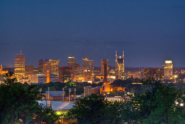 Nashville By Night 2 Print by Douglas Barnett