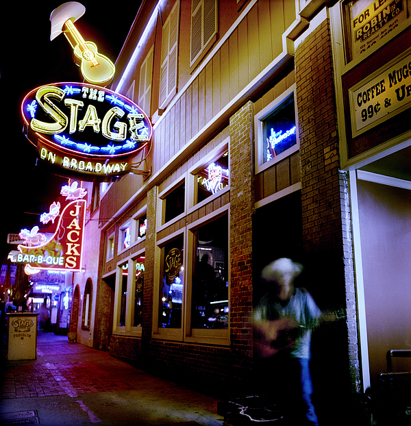Nashville Street Musician Print by Todd Fox