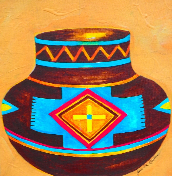 Native american indian pottery print by joanie anderson