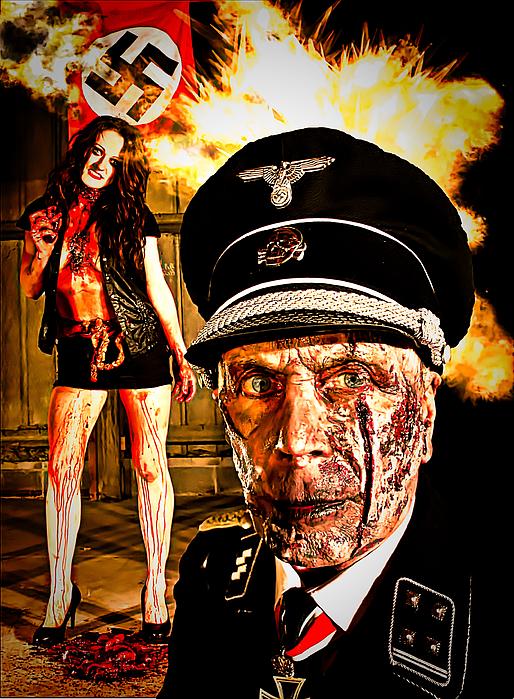 Nazi Zombie Horror Print by Esoterica