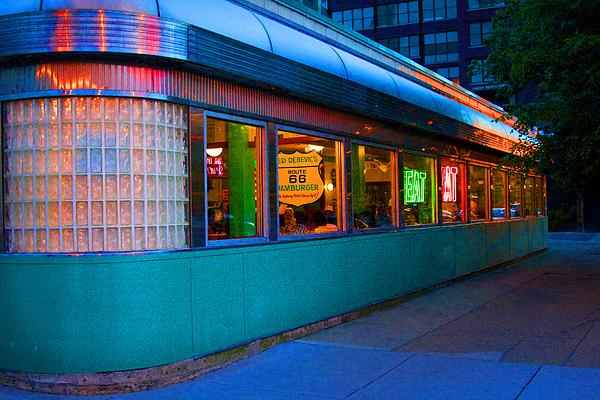 Neon Diner Print by Crystal Nederman