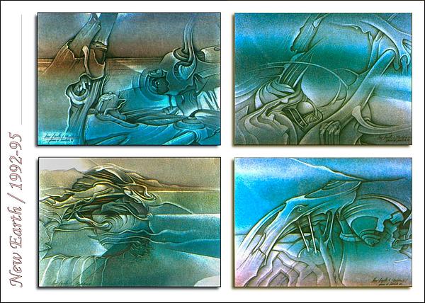 New Earth 1992-95 Print by Glenn Bautista