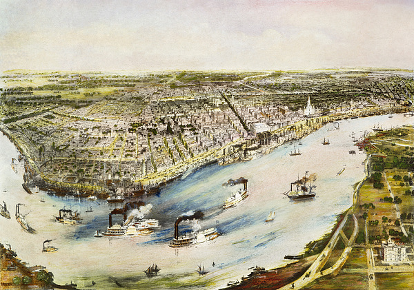 New Orleans, 1851 Print by Granger