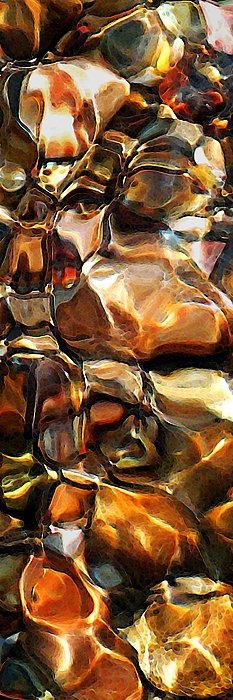 New Textures Of A Streambed Print by Terril Heilman