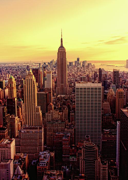 New York - Magic Hour At Top Of Rock Print by Matt Pasant