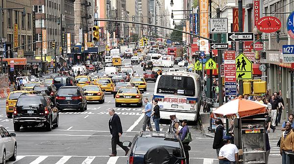 New York City Street Scene Print by Darren Martin