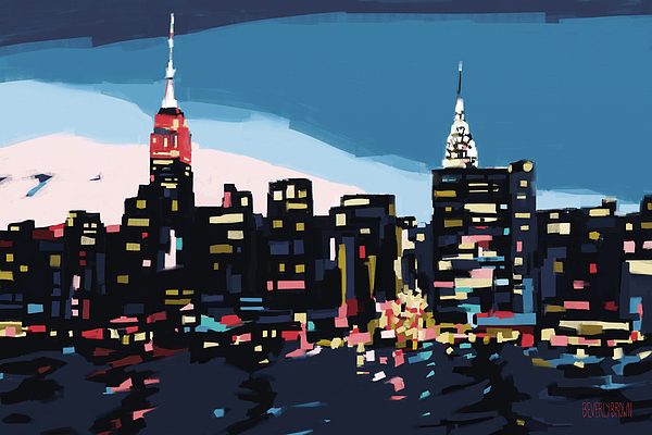 Beverly brown prints artist website for New york skyline painting
