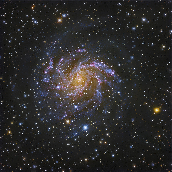 Ngc 6946, Also Known As The Fireworks Print by Robert Gendler