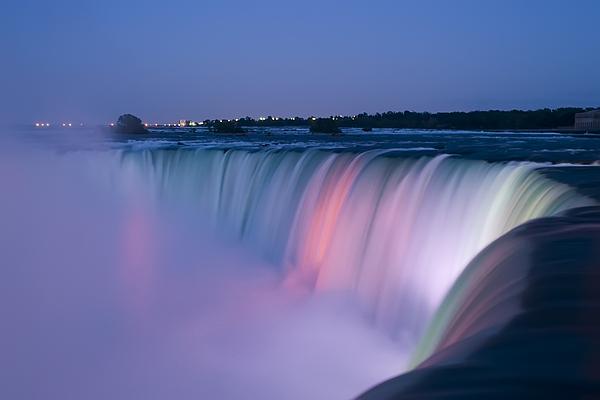 Niagara Falls At Dusk Print by Adam Romanowicz