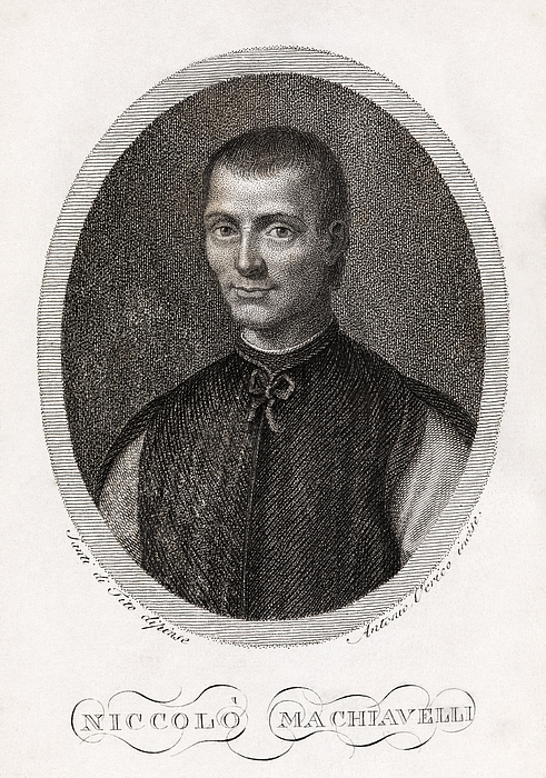 Niccolo Machiavelli, Italian Philosopher Print by Middle Temple Library