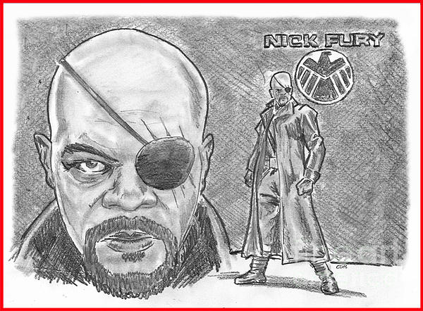 Nick Fury- Agent Of Shield Print by Chris  DelVecchio