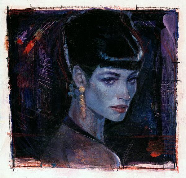 Night Club Girl 1 Print by Bill Mather