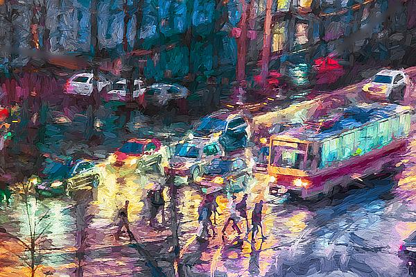 Vladimir Kholostykh - Night Street in Rain
