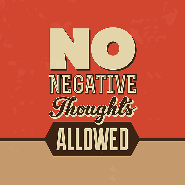 no negative thoughts allowed greeting card for sale by