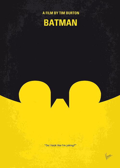 No008 My Batman Minimal Movie Poster Print by Chungkong Art