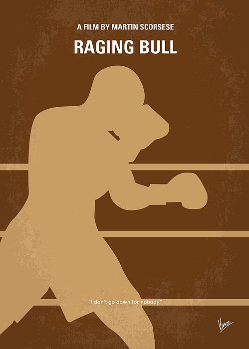 No174 My Raging Bull Minimal Movie Poster Print by Chungkong Art