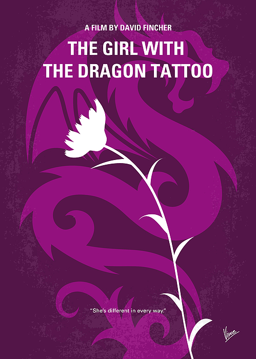 No528 My The Girl With The Dragon Tattoo Minimal Movie Poster Print by ... The Girl With The Dragon Tattoo Poster