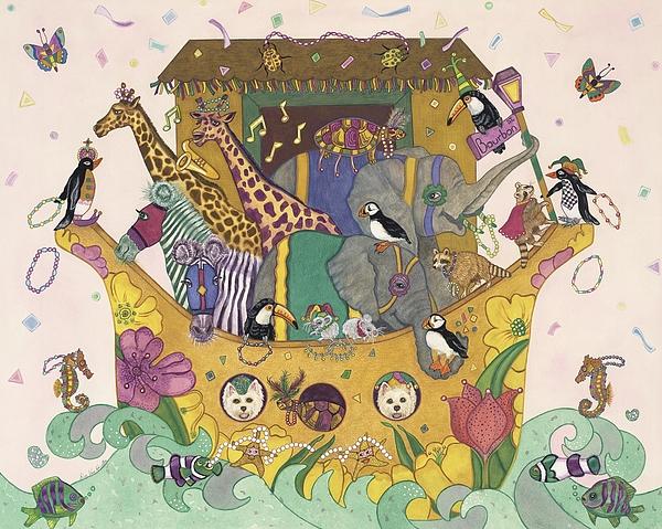 Noah's Ark Print by Dee Van Houten