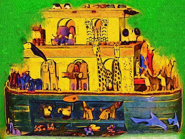 Noahs Ark From My Point Print by Deborah MacQuarrie