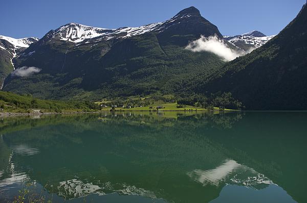 Norway, Briksdal Glacier At Jostedal Print by Keenpress