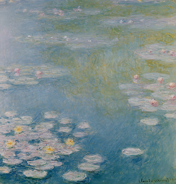 Nympheas At Giverny Print by Claude Monet