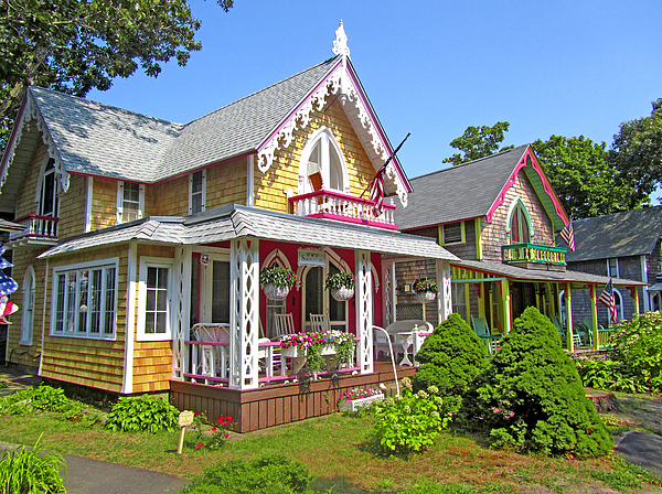 Oak bluffs gingerbread cottages 3 by mark sellers for Martha s vineyard gingerbread cottages