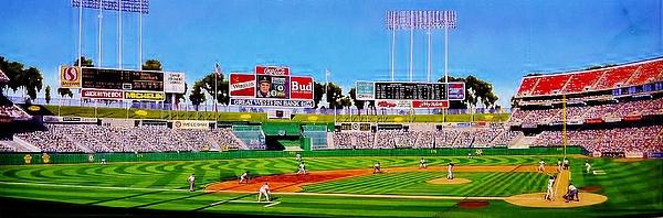Oakland Coliseum Print by T Kolendera