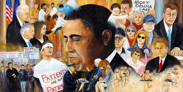 Obama's Full Plate Print by Leonardo Ruggieri