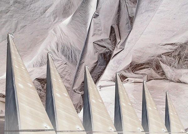 Obelisks Aligned Print by Ron Bissett