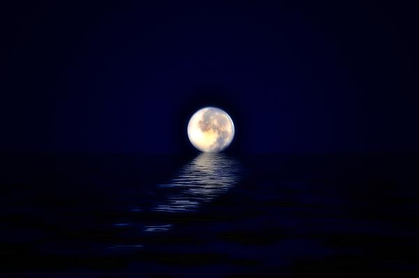 Ocean Moon Print by Bill Cannon