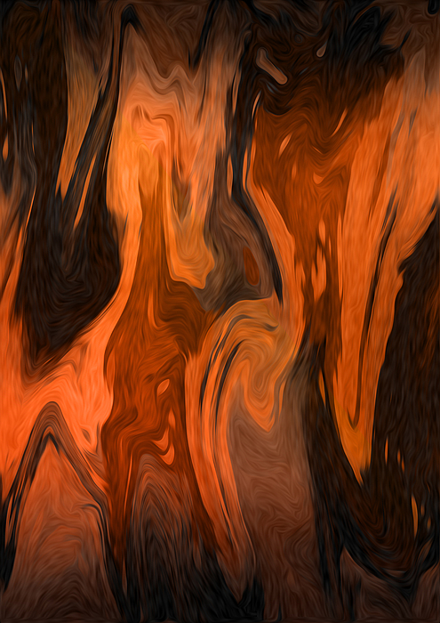 Oil Abstract Print by Svetlana Sewell