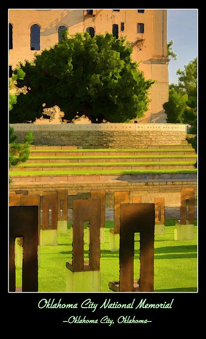 Oklahoma City National Memorial Print by Ricky Barnard