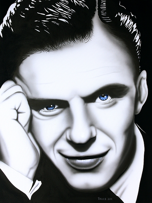 Ol' Blue Eyes Print by Bruce Carter